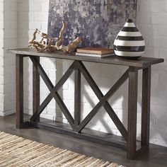 <strong>Signature Design by Ashley</strong> Zenfield Console Table