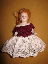 Antique bisque mignonette doll  house doll-marked   -Germany/Limbach  -1890