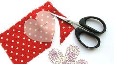 Scissors cutting fabric in a heart shape | Fabric and felt brooches | Tesco Living