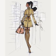 Hayden Williams Fashion Illustrations: Stroll In The City: 'The Camel Coat' by…