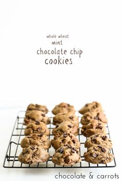 Whole Wheat Mint Chocolate Chip Cookies