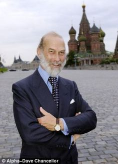 Prince Michael of Kent in Moscow's Red Square.