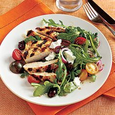 Superfast Salads | Grilled Chicken and Tomato Salad | CookingLight.com
