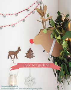 Learn how to make a super simple DIY straw garland with jingle bells for the holidays! This is the easiest Christmas Decor Idea you will find & you can cover your house in these fabulous garlands!! Don't forget to download your free christmas craft magazine while you're there. Click through for instructions & free magazine #christmas #holdiays #christmascrafts #hhmuk #merrymakings #holidaycrafts