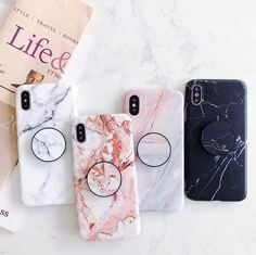 For iPhone XS Max XR 6 7 8 Plus Marble Pattern Put Up Holder Stand Soft TPU Case Cover. 1 x Case for iPhone ( Phone Not Included ) x Phone Holder. Iphone 6 S Plus, Iphone 8, Case Iphone 6s, Marble Iphone Case, Iphone Hacks, Marble Case, Coque Iphone, Apple Iphone 6, Phone Cases