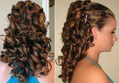 Wedding Hairstyles For Long Curly Hair Half Up Half Down