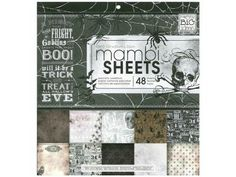 Me And My Big Ideas Sheets Cardstock Pad 12x12 Sophisticated Haunting