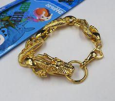 Alta calidad Del Anime Dragon ball Z ShenLong ShenRon jeselry Colección Pulsera de la manera del oro de la aleación de metal(China (Mainland))