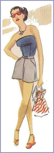 shorts & top 1950s look familiar? Lol love!
