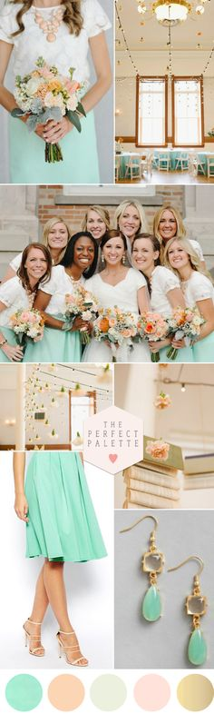Peach and Mint: Color Palette Love - www.theperfectpalette.com - The Ultimate Wedding Color Blog