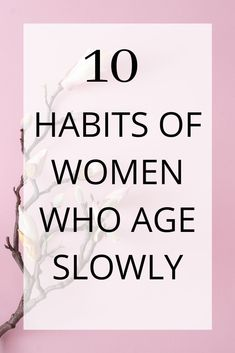 Women who age slowly have different lifestyle habits. Studies show that lifestyle plays a bigger factor in how fast we age than genetics. Anti Aging Tips, Best Anti Aging, Anti Aging Skin Care, Anti Aging Facial, Beauty Care, Beauty Skin, Beauty Secrets, Beauty Hacks, Beauty Products