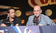 New season: Duchovny and costar Mitch Peleggi, who played FBI agent Walter Skinner, discuss the new season at Comic-Con