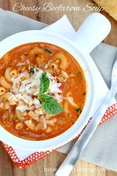 Cheesy Beefaroni Soup on MyRecipeMagic.com