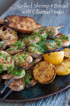 Grilled Shrimp with Cilantro Pesto