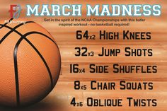 Whether you're a college basketball fan or not, it's hard to ignore the excitement of March Madness! So we at Fit Journey developed a super quick basket-baller inspired workout that will rev up your heart rate an test your on-court agility.  Go Team Go!  Find your fitness inspiration at www.fitjourney.com