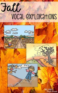 Vocal Explorations for Fall that kids in preschool, kindergarten, and first grade general music will love.