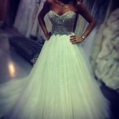 bling wedding dress <3 this will be my dress I totally has everything I want