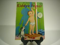 The Happy Book Kiddys Primer 1950s by RandomGoodsBookRoom on Etsy