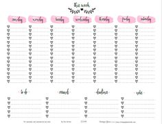 """Hi everybody! Today, I thought I would help many of you """"newbie"""" and veteran planners with a planner printable that will work as an """"empty my brain and write it down"""" place forall the tasks you want to list for your upcoming week! I used a pretty script font, watercolor brush strokes and my heart … Continue reading Doodled Week At A Glance Planner  Printable →"""