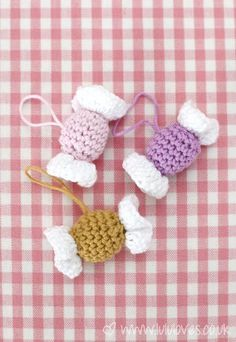 Crochet Candy/Sweets Decorations - Pattern on blog x