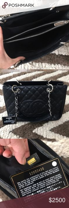 Authentic CHANEL GST shoulder bag Well maintained Chanel shoulder bag, with authenticity card. No stains or rips. Very clean interior. No dust bag.  No trades. No low ball offers. CHANEL Bags Shoulder Bags