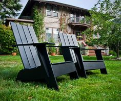 Available In 10 Environmentally Friendly Colors, The Flat Compact Resin  Adirondack Chair From Loll Designs Will Make The Modern Lollygager Feel  Right At ...