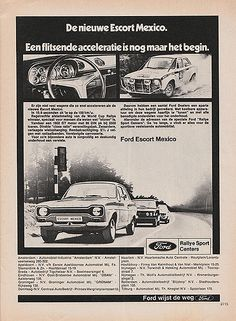 Escort Mk1, Ford Escort, Graphic Design Posters, Vintage Ads, Old Cars, Cars And Motorcycles, Classic Cars, Garage, Mexico