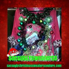 """Ugly Christmas Sweater """"the sue heck"""""""