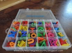 Magnetic Letters Tackle Box Organizer