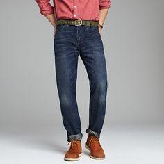 men's dark wash jean