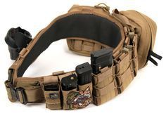 Ideas on setting up a battle belt. - Real Time - Diet, Exercise, Fitness, Finance You for Healthy articles ideas Tactical Belt, Tactical Clothing, Tactical Survival, Survival Gear, Accessoires Molle, Armas Airsoft, War Belt, Battle Belt, Airsoft Gear