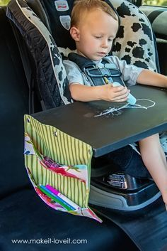 Chalkboard Lap Desk...use at home or in the car! | via Make It and Love It