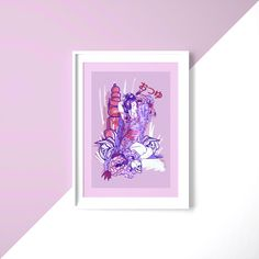 Otsuyu Art Print A4 All Print, Peonies, Gallery Wall, Paper, Frame, A4, Illustration, Prints, Frames