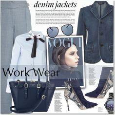 How To Wear work with denim Outfit Idea 2017 - Fashion Trends Ready To Wear For Plus Size, Curvy Women Over 20, 30, 40, 50