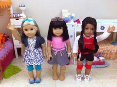 My actual AG dolls... Love em!                     ~ Natalia Colón