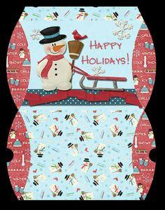 snowman gift envelope