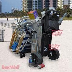 Wonder Wheeler Beach Cart - Easy Roll Ultra Wide Wheels - Silver Mist Frame : Amazon.com : Sports & Outdoors