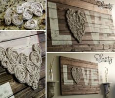Valentine's DIY Decoration Idea: Wall Art with LOVE Sign