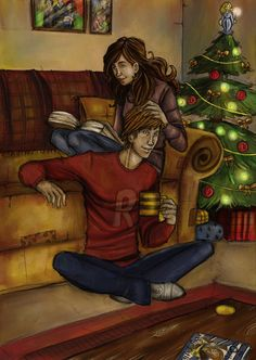 Ron and Hermione. Rose Weasley is probably like a Ginny but with bushy hair...