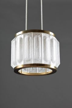 Swedish Pendant in Glass and Brass 6