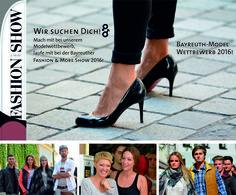 Bayreuth Models 2016 gesucht! Bewirb Dich jetzt! Wir suchen als Ergänzung zu den Profi-Models von Nord Süd Programm die Bayreuth Amateur-Models 2016 für unsere Fashion Show & More Show am 20. August in der Ludwigstraße. Bewerbungsbogen Teilnahmeinfos und mehr auf Facebookunter:  http://ift.tt/28V2nSY #BayreuthModels #FashionShow #Bayreuth #BMTG