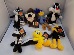 "Looney Tunes Mini Bean Bag 4.5 - 6.5"" Tall Lot of 9 #WarnerBros"