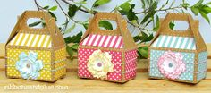 Gable Box party favors perfect for a Spring Garden party. Garden Party Favors, Kid Party Favors, Craft Party, Diy Gift Box, Diy Box, Gable Boxes, Creative Gift Wrapping, Wrapping Ideas, Craft Box
