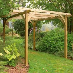 Forest Garden Ultima Pergola You'll love it because. Available in 2 sizes, the Forest Garden Ultim Diy Pergola, Timber Pergola, Pergola With Roof, Wooden Pergola, Covered Pergola, Pergola Shade, Pergola Ideas, Wisteria Pergola, Corner Pergola