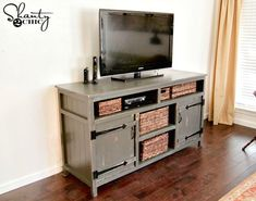 Build A Tv Stand, Tv Stand Plans, Diy Tv Stand, Diy Furniture Ikea, Repurposed Furniture, Pallet Furniture, Furniture Logo, Urban Furniture, Furniture Websites