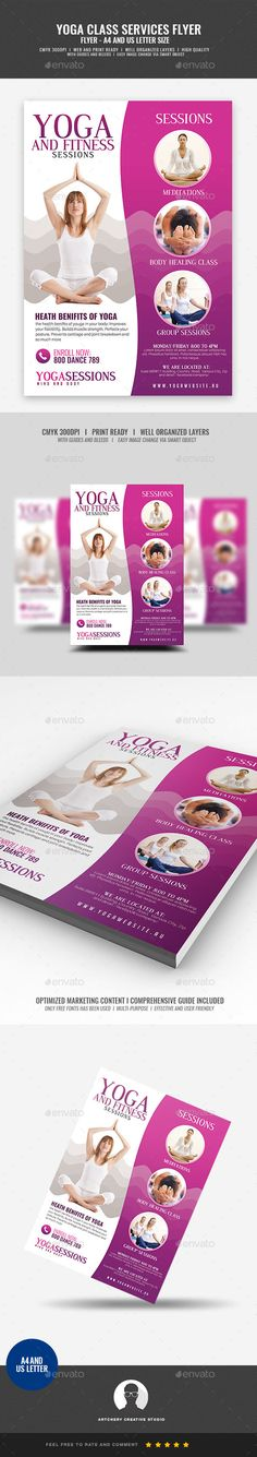 Yoga Class And Session #Flyer - #Corporate Flyers