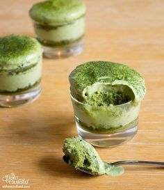 This month, my baking/cooking guru Queenie worked up a recipe for a mini Matchamisu, or matcha tiramisu. Layer upon layer of matcha.