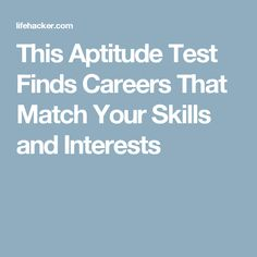 Career Aptitude Test: Try Our Free Career Test And Discover New Jobs For  You! | Gardening And Such | Pinterest | Career Aptitude Test, Free And  Career ...  Free Career Aptitude Test