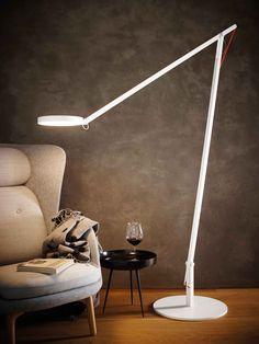 LED aluminium floor #lamp with swing arm STRING XL - @rotaliana