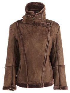 #Zaful - #Zaful Fleece Lining Faux Suede Jacket - AdoreWe.com